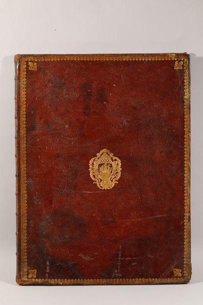 """Livre XVIIIe, """" Description des festes données par la ville de Paris, à l'occasion..."""