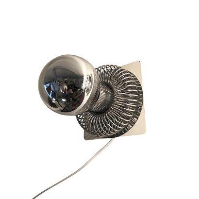 Andrea LAZZARI (born in 1984) for MOROSINI. Metal wall lamp in the shape of a chromed...