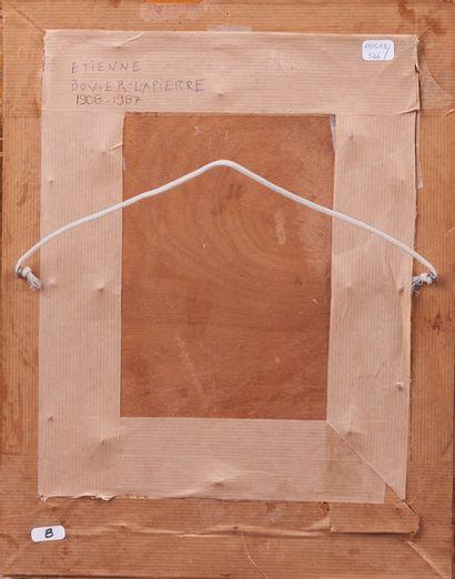 Etienne BOVIER-LAPIERRE (1908 - 1987). Paysage au Mont-Blanc. Huile sur panneau....