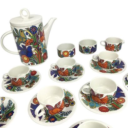 VILLEROY BOCH. Tea/coffee set, ACAPULCO model by Christine REUTER, including a teapot,...