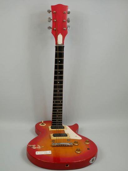 Guitar Erection, Sculpture made from an electric guitar, titled and dated 2004....