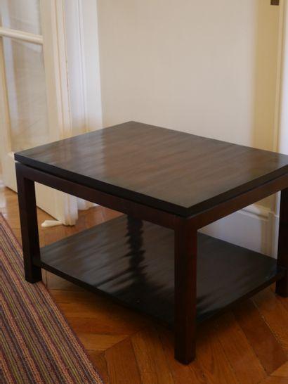 Christian LIAIGRE dans le goût de, Table basse rectangulaire en bois de placage....