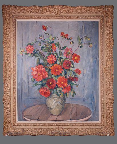 Maurice SAVREUX (1884-1971). Bouquet de fleurs....