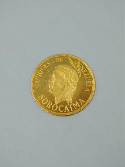 SUISSE, VENEZUELA, Médaille en or commémorant...