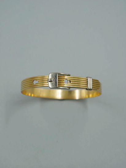 Bracelet en or 18k de deux tons figurant...
