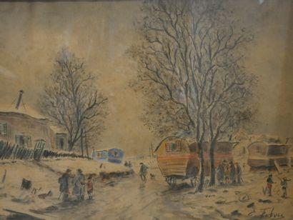 Edouard Febvre (1885-1967). Montmartre, le...
