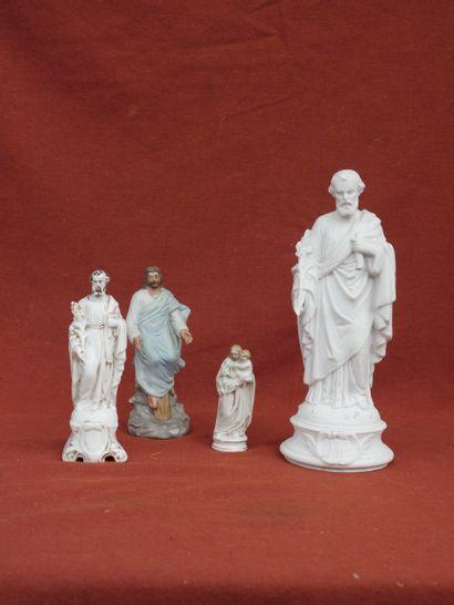 Lot de figurines de Saints comprenant une...