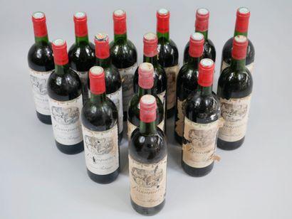 15 bouteilles Bouquetin, Bordeaux, 1981.