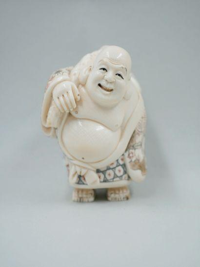 JAPON, début XXème siècle. Bouddha de prospérité...