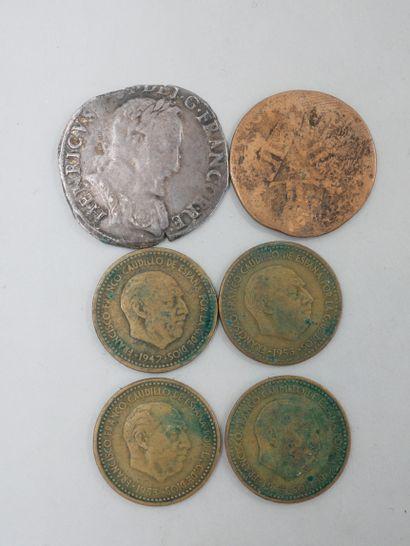 Lot de monnaies diverses