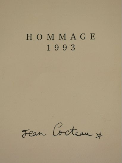 Jean COCTEAU. Hommage à Jean Cocteau. 4 lithographies sur vélin d arches, numérotées...