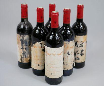 6 bouteilles Mise de la Baronnie, St Emilion,...