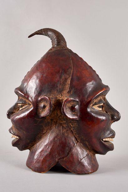 AFRIQUE DE L'OUEST. Masque double face en...