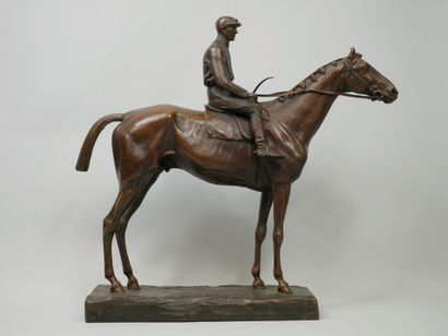 GIUSEPPE FERRARI (1840-1905). Jockey. Epreuve...