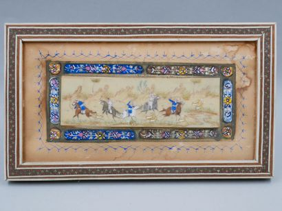 Miniature indo-persanne figurant une scène...