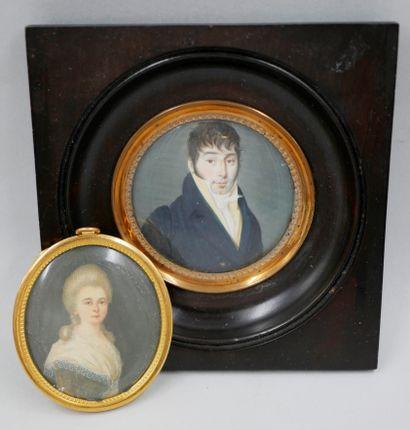 Lot comprenant une miniature, XIXè siècle,...