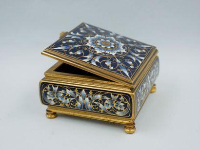 Boite à bijoux quadrangulaire de style néo-renaissance...