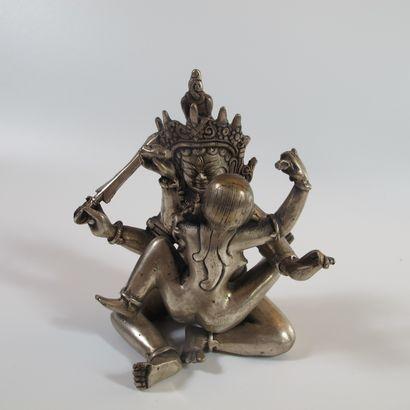 Statuette tantrique d'union divine Shiva-Shakti....