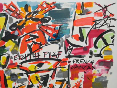 "Gen-Paul (1895-1975). Affiche ""Le Moulin Rouge, Edith Piaf, Bal French Cancan""...."