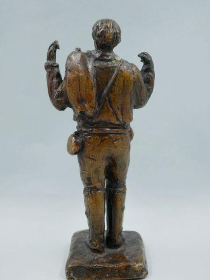PARODI. Travailleur. Bronze à patine brune,...