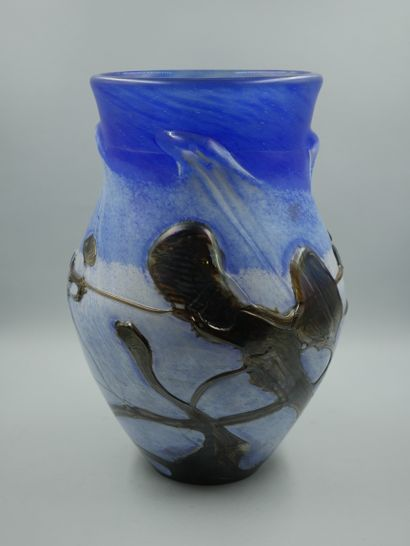 NOVARO Jean-Claude (1943-2015), Vase balustre....
