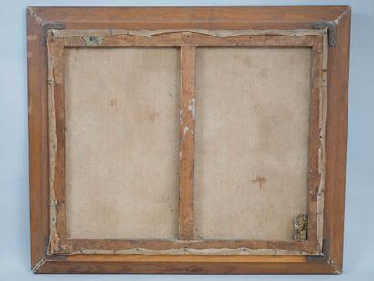 Ecole Française XIXème siècle. Maison arborée. Huile sur toile. 60 x 73cm. (Acc...