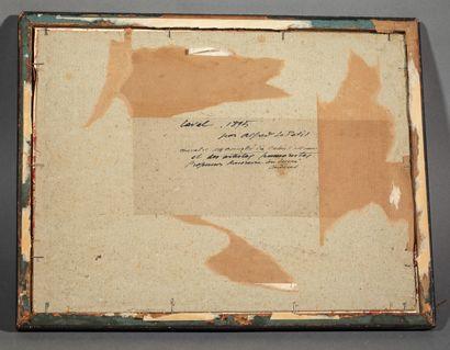 """Alfred Marie LE PETIT (1876-1953), Ecole de Honfleur. """"Laval 1895"""". Aquarelle signée,..."""