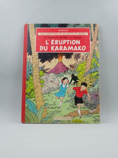 Hergé. Jo et Zette. L'éruption du Karamako....