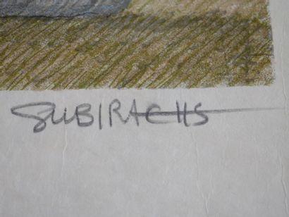 SUBIRACHS. Lithographie.