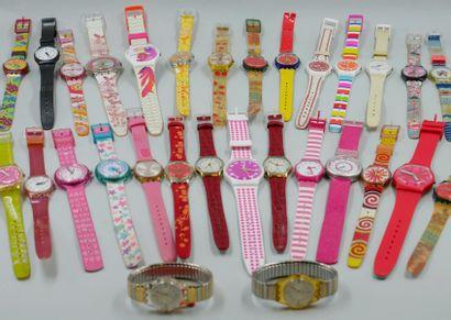 Fort lot de montres comprenant : 29 montres...