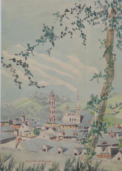 Ecole Française XXè siècle. Bagnères-de-Bigorre,...