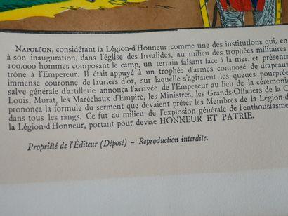 Gravure représentant Napoléon à Boulogne.