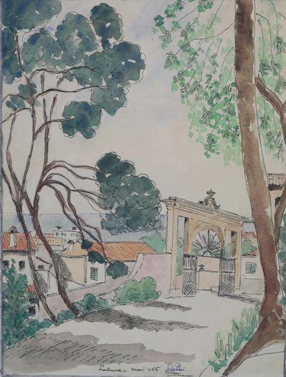 Ecole Française XXè siècle. Palma, 1966....