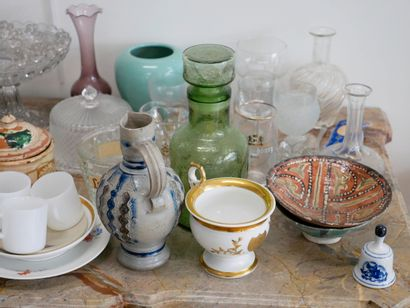 Lot of glassware and miscellaneous. (Accidents) We join NEVERS, end of XVIIth century,...