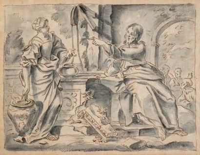 École Italienne XVIé-XVIIé siècle. Le christ...
