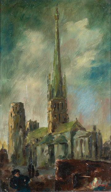 Emile-Henry TILMANS (1888-1960). Cathédrale...
