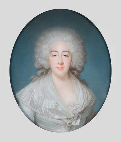 Joseph BOZE ( 1745-1826 ) Portrait de la comtesse de Provence Tableau annoté au...