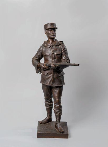 Edouard DROUOT (1859-1945). Soldat au fusil....