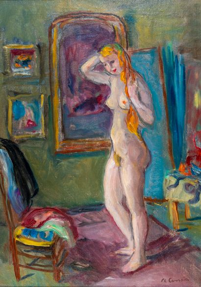 Charles CAMOIN (1879-1965). Femme rousse...