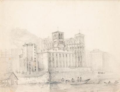 École Française XIXè siècle. Dessin au crayon...