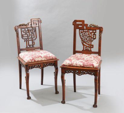 Gabriel VIARDOT (1830-1906), Paire de chaises...