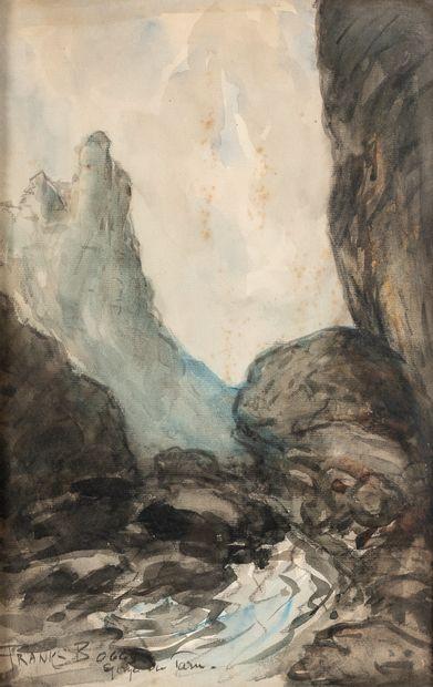 FRANK-BOGGS (1855-1926). Les gorges du Tarn....