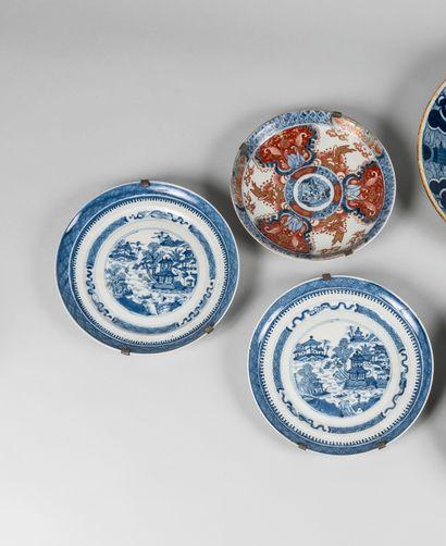 CHINE, XVIIIème siècle, porcelaine d'exportation....