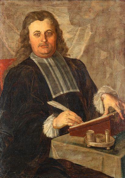 École Hollandaise XIXè siècle. Portrait d'homme....
