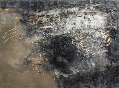 Paul RAMBIE (Né en 1919), Abstraction, huile...
