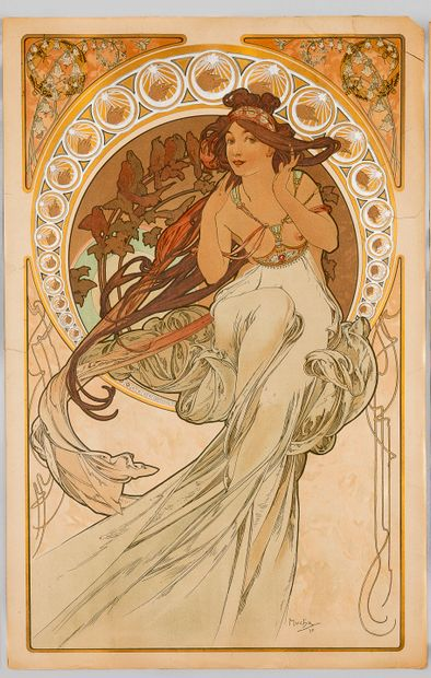 Alphonse MUCHA (1860-1939), La musique, 1898....
