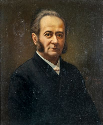 École Française XIXè siècle. Portrait d'homme...
