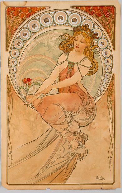 Alphonse MUCHA (1860-1939), La peinture,...