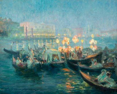Arthur MIDY (1887-1944) Gondoles au large...
