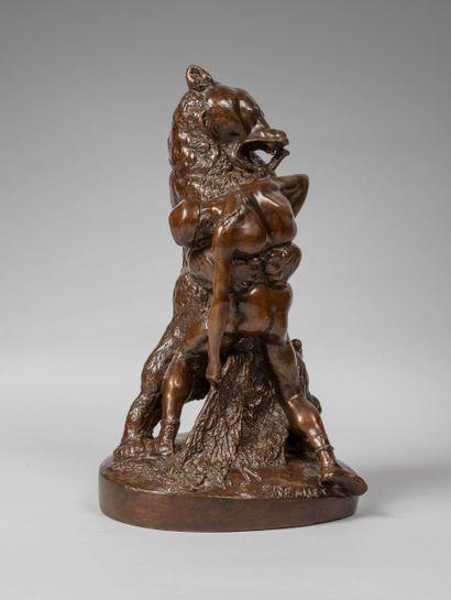 Emmanuel FREMIET ( 1824-1910). L'ours et...